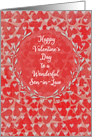 Happy Valentine's Day to Son-in-Law Lots of Hearts with Vine Wreath card