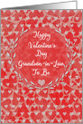 Happy Valentine's Day to Grandson-in-Law to Be Lots of Hearts Wreath card