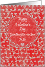 Happy Valentine's Day to Granddaughter-in-Law to Be Lots of Hearts card