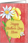 Happy Mother's Day to Mom Pretty Watercolor Effect Flowers card