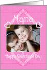 Happy Valentine's Day Nana Pretty Hearts in Pink Photo Card