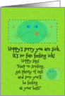 Get Well Soon for Kids Hoppy the Frog card