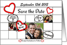 Save the Date Calendar of Wedding To Do Personalized Photo Card