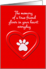 Pet Sympathy Memory of a True Friend card