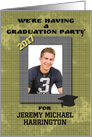 Graduation Party Invitation 2013 Photo Card with Name Personalization card