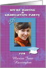 Graduation Party Invitation 2013 Photo Card Customize Name card