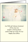 Mother's Day for Daughter's Mother-in-Law Little Girl Dreaming card