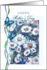 Painted daisies and Butterflies, Mother's day card