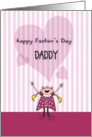 Happy Father's Day, Child like art card
