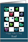 Father's Day, to Dad, Painted hearts card
