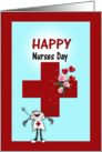 Happy Nurses Day, Roses on card