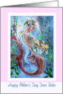 to Dear Sister, Mother's Day, Mermaid art card