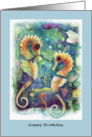 Sea Horses, Happy Birthday card