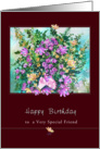 Wild Flower Bouquet, Birthday for Special Friend card