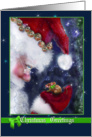 Christmas Greetings, Santa and Mouse card