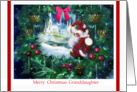 little Elf and Wreath, Merry Christmas to Granddaughter card