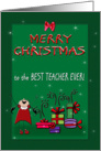 Merry Christmas to Teacher card
