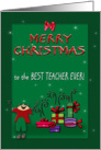 Merry Christmas to Teacher from Boy card