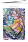 Mermaid and SeaHorse Hugs, Happiness is card
