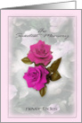 Pink Roses, For Loss of Mother card