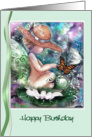 Wee faery and Butterfly Birthday, Faery themed ART card
