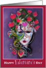 Colorful Valentine Mask, Happy Valentine's Day card