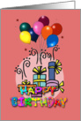 Balloons, Colorful , Happy Birthday card