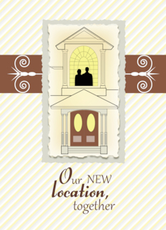 New Location Together - Moving Announcement Greeting Card