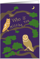 Owl - Summer Camp Missing You card