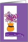 Happy Birthday, bright flowers card