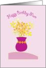 Happy Birthday Mum with bright Flowers card