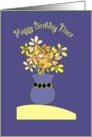 Happy Birthday Niece, with bright Flowers card