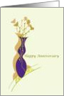 Happy Anniversary Spouse Vase of Flowers Illustration card