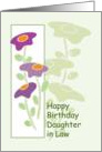 Happy Birthday Daughter in Law Flowers card