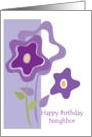 Neighbor Birthday, flowers card