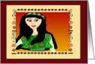 Afghan Girl in Green card