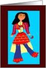 Modern Afghan Girl card