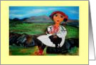 Afghan Girl in Noristani dress card