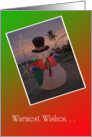 Christmas, Tropical Snowman card