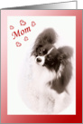 Papillon Dog Valentine for Mom card