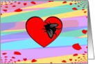 Happy Anti-Valentines Day! Shoo Fly! card