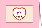 Beautiful Toast to Love Wine Glasses with Single Red Rose. Be My Valentine card