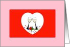Will You Be my Bridesmaid? It's a Valentine's Day Wedding! Toast to Love graphic. card