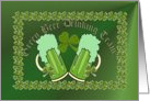Green Beer Drinking Team. Happy Saint Patrick's Day! card