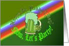 Happy St. Paddy's Day! Now, Let's Party! 21st Birthday. card