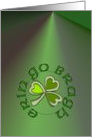 Erin go Bragh. Beannachta� na F�ile P�raic oraibh! Means: Ireland Forever. St. Patricks Blessing upon you! in Gaelic. card