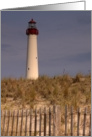 Sandy Beach LIghthouse General Blank Note Card