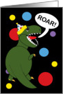 Birthday T-Rex Dinosaur card