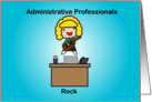 Administrative Professionals Rock Text Card