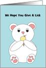 Polar Bear Ice Cream Party Invitation card